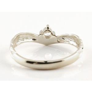 ピンキーリング ハワイアンジュエリー ダイヤモンド プラチナリング 指輪 一粒ダイヤモンド ダイヤ ハワイアンリング V字 pt900 レディース|atrus|03