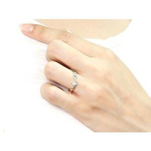 ピンキーリング ハワイアンジュエリー ダイヤモンド プラチナリング 指輪 一粒ダイヤモンド ダイヤ ハワイアンリング V字 pt900 レディース|atrus|04