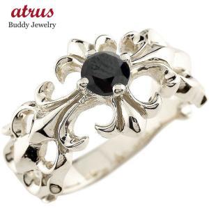 メンズ クロス プラチナリング ブラックダイヤモンド 幅広 指輪 ダイヤ ピンキーリング pt900 男性用 送料無料 atrus
