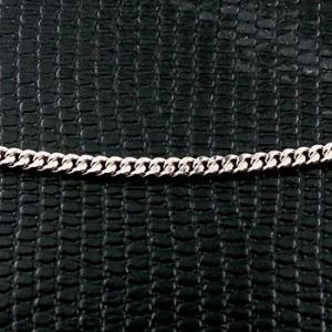 切り売り 喜平 プラチナネックレス 2面カット 2.3ミリ幅 チェーン 鎖 レディース pt850 キヘイ 地金ネックレス|atrus