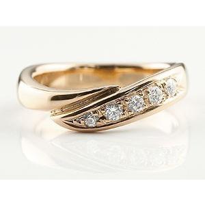 婚約指輪 エンゲージリング ダイヤモンド リング 指輪 ダイヤ ダイヤモンドリング ピンクゴールドk18 スパイラル ウェーブリング 18金 レディース|atrus|02