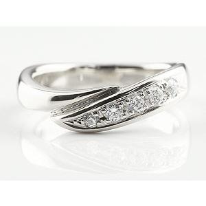 エンゲージリング プラチナ ダイヤモンド 婚約指輪 リング 指輪 ピンキーリング ダイヤ リング スパイラル ウェーブリング pt900 レディース|atrus|02