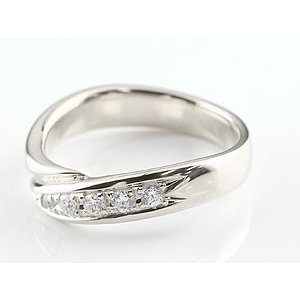 エンゲージリング プラチナ ダイヤモンド 婚約指輪 リング 指輪 ピンキーリング ダイヤ リング スパイラル ウェーブリング pt900 レディース|atrus|03