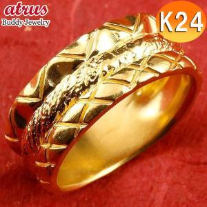 24金 指輪 レディース ピンキーリング ゴールド 純金 リング 幅広 k24 24k 金 人気 重...