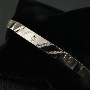 メンズ ブレスレット プラチナ900 ダイヤモンド 幅広 地金 pt900 男性用 コントラッド 東京 CONTRAD TOKYO 送料無料 atrus
