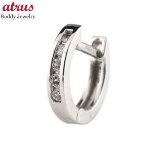 フープピアス 小さい ピアス メンズ 片耳ピアス メンズピアス ダイヤモンド 中折れ式ピアス ホワイトゴールドk18 18金 18k WG ダイヤ 宝石 あすつく 送料無料|atrus