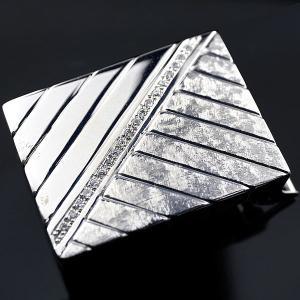 メンズジュエリー バックル ホワイトゴールド ダイヤモンド k18 ベルト 男性用 送料無料|atrus