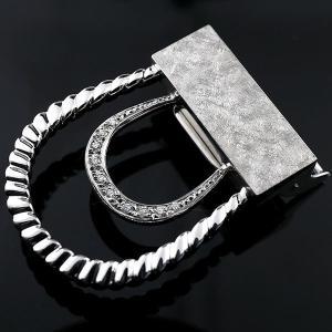 メンズジュエリー バックル ホワイトゴールドk18 ダイヤモンド k18 ベルト 男性用 送料無料|atrus