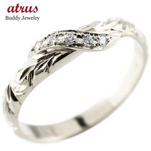 ハワイアンジュエリー ピンキーリング ダイヤモンド シルバー リング 指輪 ハワイアンリング ダイヤ sv925|atrus