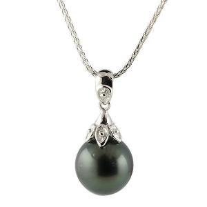 パールペンダント 真珠 フォーマル 誕生石 ネックレス シルバー タヒチ 黒真珠 ペンダント チェーン 人気 レディース あすつく 送料無料|atrus