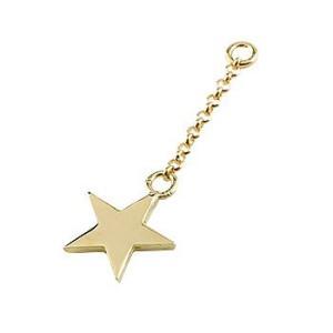 1個 パーツ ピアス用 イヤリング用 星 イエローゴールドk18 シンプル レディース 地金 宝石|atrus