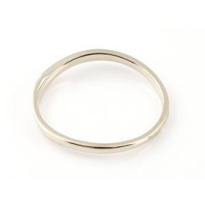 スイートペアリィー インフィニティ ペアリング 結婚指輪 ダイヤモンド ピンクゴールドk18 プラチナ900 S字 つや消し 一粒 18金 華奢 ストレート  最短納期|atrus|02