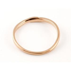 スイートペアリィー インフィニティ ペアリング 結婚指輪 ダイヤモンド ピンクゴールドk18 プラチナ900 S字 つや消し 一粒 18金 華奢 ストレート  最短納期|atrus|03