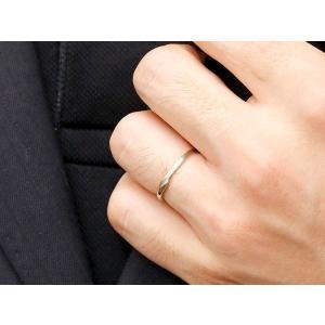 スイートペアリィー インフィニティ ペアリング 結婚指輪 ダイヤモンド ピンクゴールドk18 プラチナ900 S字 つや消し 一粒 18金 華奢 ストレート  最短納期|atrus|06