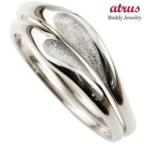 ペアリング 結婚指輪 マリッジリング ハート ホワイトゴールドk18 18金 シンプル つや消し ストレート スイートペアリィー カップル  最短納期|atrus