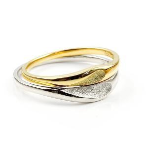 ペアリング 結婚指輪 マリッジリング ハート プラチナ イエローゴールドk18 つや消し スターダスト加工 pt900 18金 ストレート スイートペアリィー  最短納期|atrus|02