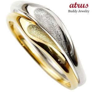 ペアリング 結婚指輪 マリッジリング ハート プラチナ イエローゴールドk18 つや消し スターダスト加工 pt900 18金 ストレート スイートペアリィー 送料無料 atrus