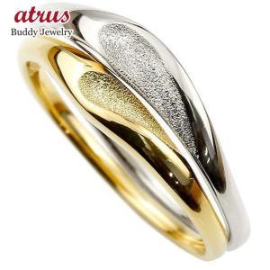ペアリング 結婚指輪 マリッジリング ハート イエローゴールドk10 ホワイトゴールドk10 つや消し スターダスト加工 10金 スイートペアリィー  最短納期 送料無料 atrus