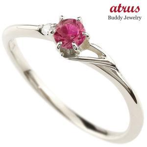 エンゲージリング イニシャル ネーム T 婚約指輪 ルビー ダイヤモンド シルバー 指輪 アルファベット レディース 7月誕生石 人気|atrus