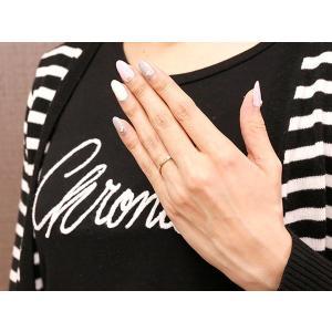 結婚指輪 マリッジリング ペアリング プラチナ ピンクゴールドk18 スイートペアリィー 結び リング pt900 18金 華奢 ストレート 地金リング コンビ|atrus|04