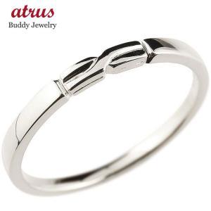 ピンキーリング シルバー925 結び リング エンゲージリング 指輪 sv925 華奢 ストレート 地金|atrus