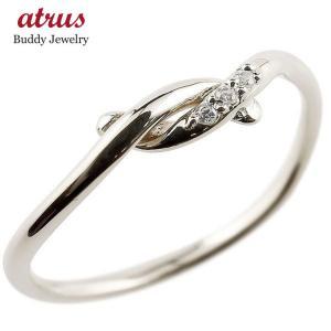 ピンキーリング ダイヤモンド シルバー 結び リング エンゲージリング 指輪 sv 華奢 指輪 ダイヤ|atrus