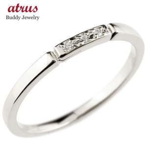 プラチナ リング ダイヤモンド pt900 レディース シンプル ピンキーリング 結び エンゲージリング 華奢 ストレート ダイヤ 指輪 女性 送料無料 atrus