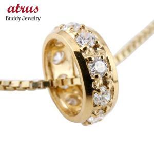 ネックレス メンズ ダイヤモンド ペンダントイエローゴールドk10  ダイヤ ネックレス リングネックレス エタニティー 10金 チェーン 人気 あすつく|atrus
