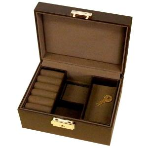 ジュエリーボックス サイズ マルチジュエリーケース  ブラウン 収納 リング ペンダント あすつく 送料無料 atrus