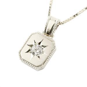 メンズ ダイヤモンド ネックレス 一粒 プラチナ ダイヤ ペンダント pt900 チェーン 人気 ホーニング つや消し加工  シンプル 送料無料|atrus
