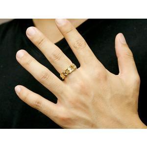 メンズ 喜平リング ダイヤモンド イエローゴールドK18 リング 指輪 婚約指輪 18金 キヘイ 鎖 ダイヤ 男性用 コントラッド 東京|atrus|04