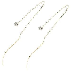 ピアス レディース 落ちないピアス アメリカンピアス ダイヤモンド 一粒 イエローゴールドk18 シンプル 18金 ストッピ 宝石 18k 送料無料|atrus