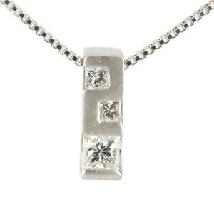 ネックレス メンズ ダイヤモンド ネックレス プラチナ900 スクエア ペンダント ダイヤ 男性用 あすつく 送料無料|atrus