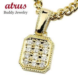 18金 ネックレス トップ  メンズ ダイヤ ゴールド 18k 喜平用 ダイヤモンド シンプル イエローゴールドK18 ペンダント キヘイ 男性 送料無料|atrus