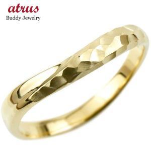 メンズ 指輪 リング イエローゴールドk10 婚約指輪 ピン...
