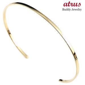 18金 ブレスレット 女性 バングル ゴールド 18k k18 シンプル 人気 イエローゴールドk18 レディース 華奢 細身 地金 プレゼント 送料無料|atrus