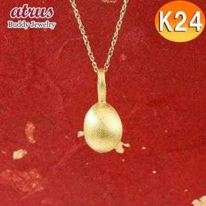 ネックレス 純金 24金 ゴールド イースターエッグ 卵 24K ペンダント 24金 ゴールド k2...