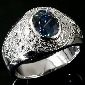 メンズ プラチナリング サファイア 指輪 一粒 大粒 pt900 幅広 ピンキーリング カレッジリング 月桂樹 蛇 イーグル スネーク 男性用 人気 送料無料|atrus