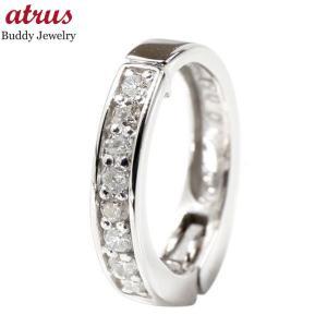 メンズ ノンホールピアス 片耳 ピアリング ダイヤモンド イヤリング ホワイトゴールドk10 10k WG イヤーカフ ダイヤ あすつく 男性 送料無料|atrus