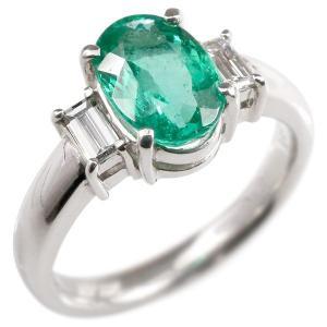 婚約指輪 プラチナリング エメラルド 希少石 ダイヤモンド エンゲージリング 指輪 pt900 宝石 大粒 レディース 送料無料|atrus