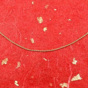 ネックレス メンズ 純金 メンズ ネックレスチェーン 24金 24K アズキチェーン ネックレス 45cm k24 地金ネックレス ゴールド 小豆 送料無料|atrus