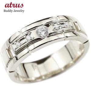 プラチナ 指輪 メンズ リング pt900 シンプル ダイヤモンド ダイヤ エンゲージリング  幅広 ピンキーリング 宝石 男性 人気 ストレート 送料無料|atrus