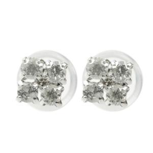 ピアス プラチナ ダイヤモンド レディース pt900 宝石 花 フラワー スタッドピアス ダイヤ あすつく 送料無料|atrus