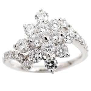 婚約指輪 安い プラチナ リング ダイヤモンド 1.3ct pt900 レディース ピンキーリング ダイヤ 指輪 幅広 エンゲージリング 送料無料|atrus