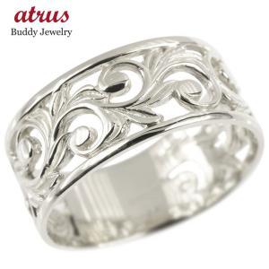 リング レディース ハワイアンジュエリー 指輪 シルバー sv925 透かし 幅広 婚約指輪 安い スクロール マイレ ピンキーリング 地金 シンプル 女性 送料無料 atrus