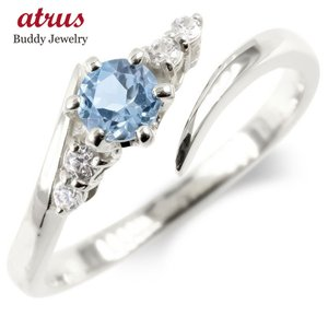 婚約指輪 ダイヤ 安い シルバー フリーサイズリング レディース ブルートパーズ ダイヤモンド 指輪...