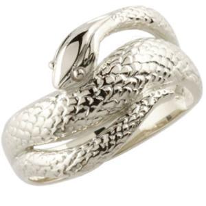 メンズ プラチナリング 蛇リング 指輪 スネーク ヘビ ピンキーリング 地金リング シンプル 宝石なし 男性用 送料無料|atrus