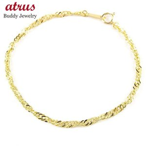 24金 ブレスレット レディース チェーンのみ 18cm スクリューチェーン ゴールド 24K k24 純金 地金 女性 あすつく 送料無料|atrus