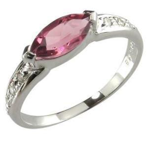 プラチナ 指輪 40代普段使い ピンクトルマリン ダイヤモンド ピンキーリング リング 10月誕生石 ダイヤ ストレート 宝石 送料無料|atrus