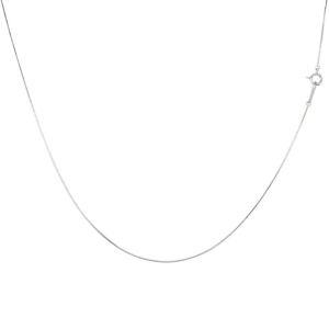ネックレス メンズ 18金 ロングネックレス ホワイトゴールドk18 ベネチアンチェーン メンズ 50cm 地金 男性用 送料無料|atrus